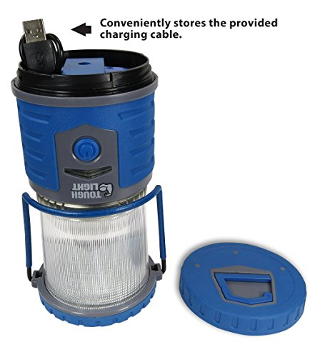 Tough Light LED Rechargeable Lantern 200 Hours of Light from a Single Charge, Longest Lasting on Amazon! Camping and Emergency Light with Cell Phone Charger 2 Year Warranty
