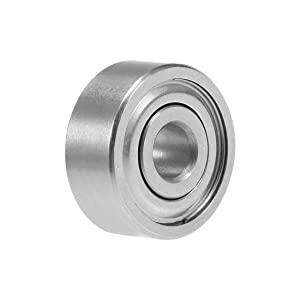 uxcell S623ZZ Stainless Steel Ball Bearing 3x10x4mm Double Shielded 623Z Bearings 1-Pack