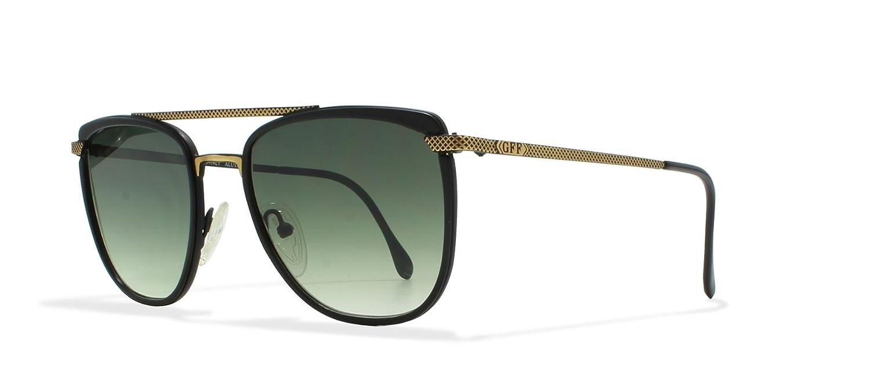 7c6b671ef3d02 Gianfranco Ferre 73 10M Black Vintage Sunglasses Rectangular For Men and  Women  Amazon.co.uk  Clothing