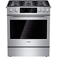 Bosch HGI8054UC 800 30 Stainless Steel Gas Slide-In Sealed Burner Range - Convection