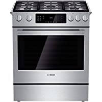 "Bosch HGI8054UC 800 30"" Stainless Steel Gas Slide-In Sealed Burner Range"