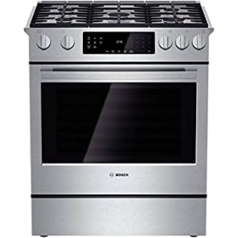 Amazon Com Bosch Hgi8054uc 800 30 Stainless Steel Gas Slide In Sealed Burner Range Convection Appliances
