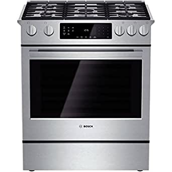 "Bosch HGI8054UC 800 30"" Stainless Steel Gas Slide-In Sealed Burner Range - Convection"