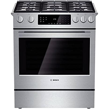 bosch hgi8054uc 800 30 stainless steel gas slide in sealed burner range convection - Kitchen Stove