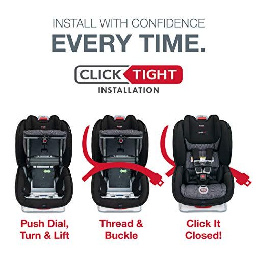 51zqaozea L - Britax Marathon ClickTight Convertible Car Seat | 1 Layer Impact Protection - Rear & Forward Facing - 5 To 65 Pounds, Verve