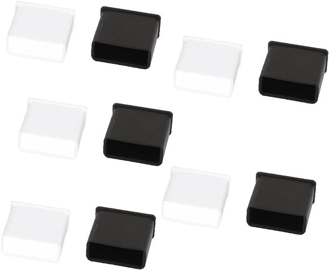 10pcs Black PC Laptop USB Plug Cover Stopper Rubber Soft Silicon Dust Cap JB
