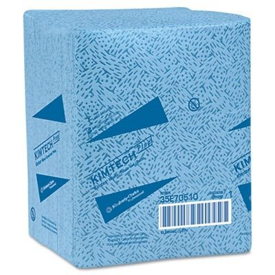 Kimtech Prep Kimtex Wipers - Kimberly-Clark 33560 KIMTECH PREP KIMTEX Wipers, 1/4-Fold, 12 1/2 x 13, Blue, 66/Box, 8/Carton