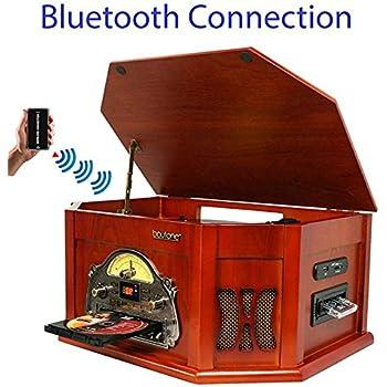 Amazon.com: 7-in-1 boytone bt-15tbsm Classic Turntable ...