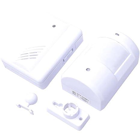 Rasgo-Tech inalámbrico mennon Detector de timbre para puerta entrada despertador musical con 1 mando