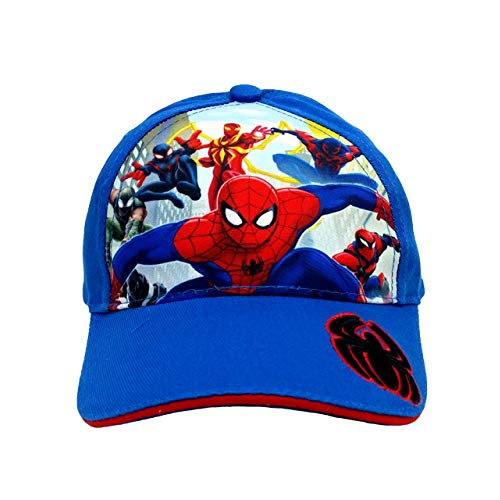 Spider-Man Ultimate Baseball Cap Hat #SPU1271- Spiderman Blue ()