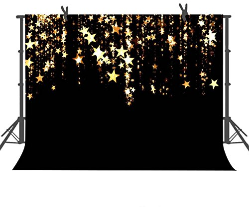 FUERMOR Brown Backdrop 7x5ft Golden Stars Backdrop Children Baby Photography Props Studio Photo Background -