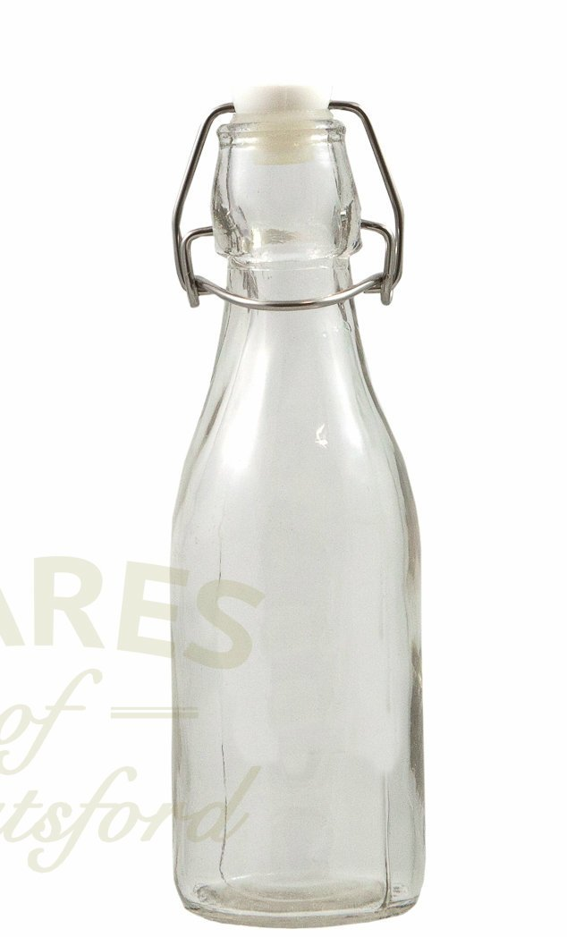 250ml Clear Glass Swing Top Bottles (Pack of 6) Wares of Knutsford