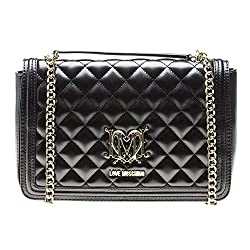 Moschino Love Moschino Women S Quilted Logo Shoulder Bag Black One Size