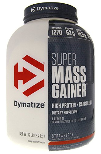 - DYMATIZE NUTRITION Super Mass Gainer Strawberry 6 lbs