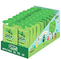 Gogo Squeez Applesauce Go, Apple Apple, 3.2 Ounce Portable Bpa-free Pouches, Gluten-free, 18 Total Pouches