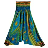 Yoga Pants, Women Casual Summer Loose Yoga Trousers Baggy Boho Aladdin Jumpsuit Harem Pants (Free Size, Green)