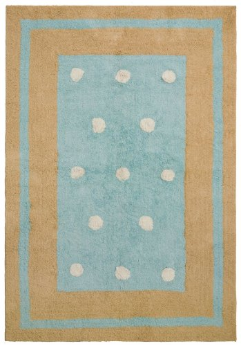 - St Croix Trading Carousel Blue 4'x6' Contemporary Area Rug