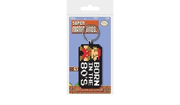 Pyramid International Super Mario Bros. Nacido en el 80 de Goma Llavero, 4,5 x 6 cm