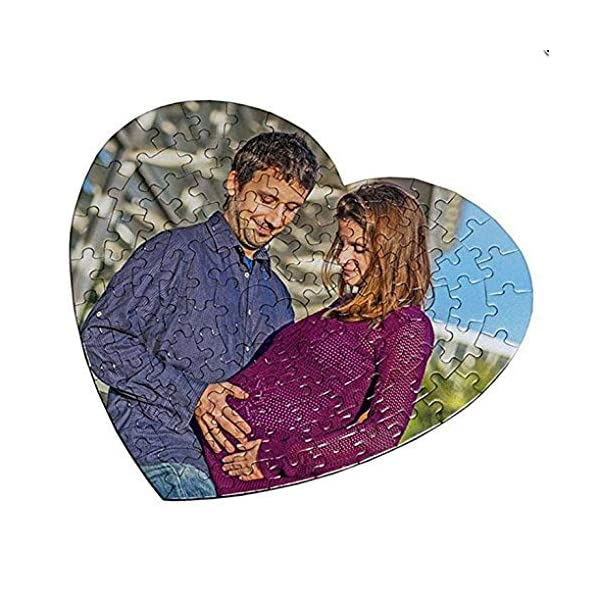 OyC Puzzle Corazon Personalizado con Foto, Imagen, Texto, Retrato, fotografia, Regalo, Parejas, Bonito 4