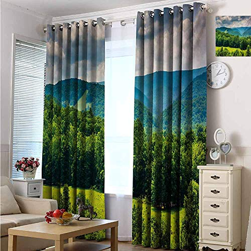Halloween Virginia Highlands (hengshu Landscape Blackout Curtains - Gasket Insulation View of Mountains in Potomac Highlands of West Virginia Rural Scenery Picture Blackout Curtains for The Living Room W96 x L96 Inch Forest)