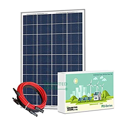 Unlimited Solar P2 Series 100 Watt 12 Volt Off-Grid Solar Panel Kit