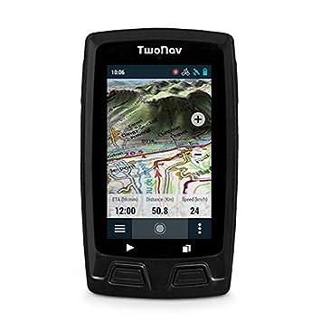 TwoNav Velo Mountain (negro) - GPS Full Connect para Ciclismo de Montaña (incluye soporte para manillar, pulsómetro ANT+TM/BLE y mapa topográfico): ...