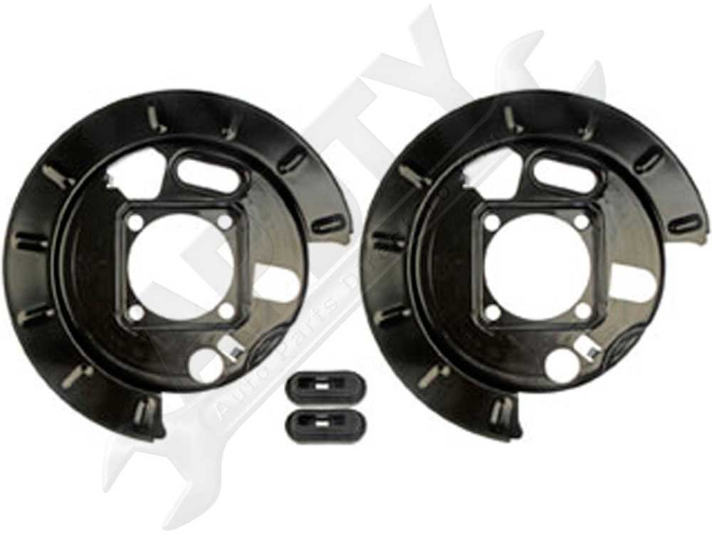 APDTY 035332 Drum Brake Dust Shield Backing Plate Pair; Rear Left & Right (Replaces 12472851, 12476287, 19178785, 19178786) by APDTY