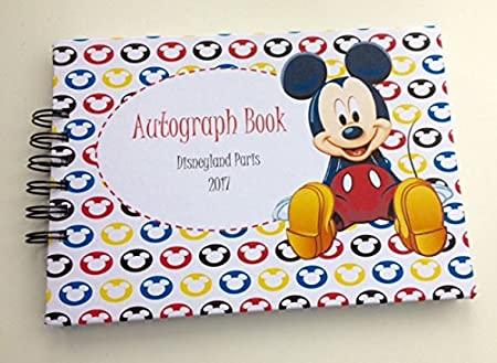 Pages autograph. Disney book handmade a
