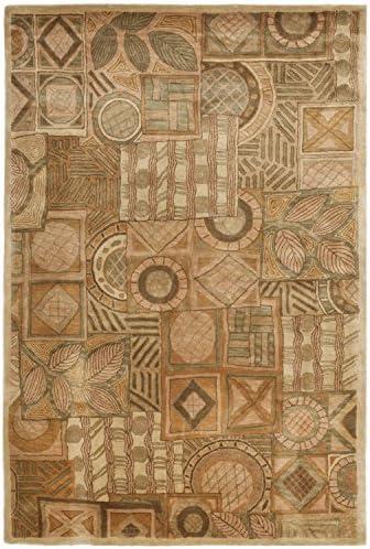 Safavieh Hampton Collection HA815A Handmade Multicolored Premium Wool Area Rug 5' x 8'