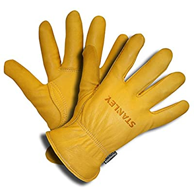 Stanley S90511 Premium Thinsulate-Lined Grain Deerskin Driver, Large