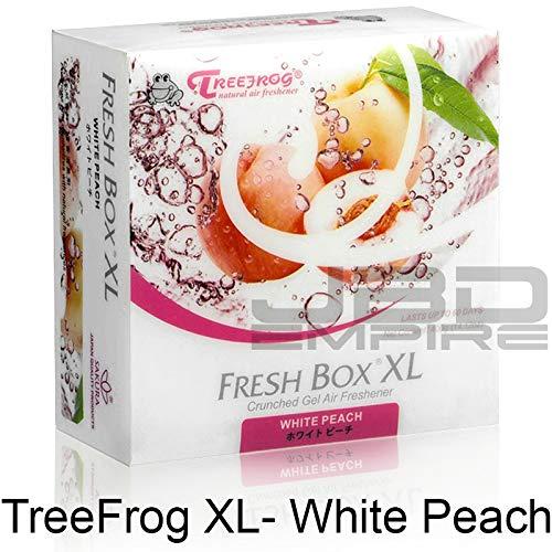 JBD Empire Treefrog Xtreme Fresh Box XL Air Freshener Scent Extra Large 400g - Black Squash/Blue Squash/Green Squash/White Peach/New Car (White Peach)
