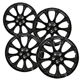 98 honda accord hubcaps - OxGord Hubcaps for 14 inch Standard Steel Wheels (Pack of 4) Wheel Covers - Snap On, Ice Black