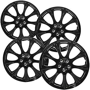 Amazon Com Cover Trend Set Of 4 Universal 15 Black Matte Hub