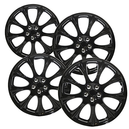 - OxGord Hubcaps for 14 inch Standard Steel Wheels (Pack of 4) Wheel Covers - Snap On, Ice Black