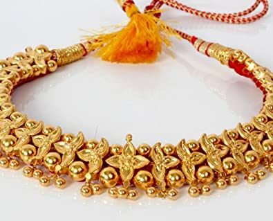 8ca6fc711 Image Unavailable. Image not available for. Colour  maharashtrian  Traditional Necklace. Click to open expanded view. PURE N PRECIOUS