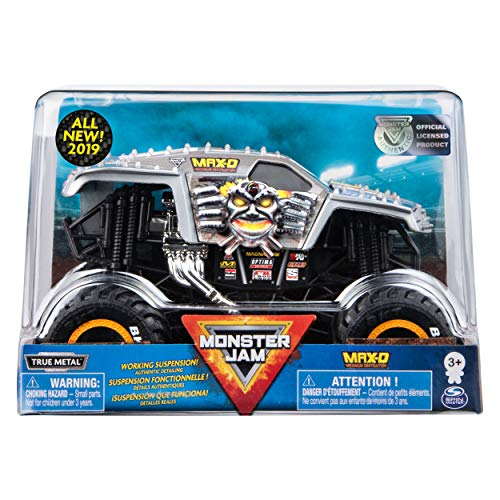 24 Scale Replica Truck - Monster Jam Official Max D Monster Truck, Die-Cast Vehicle 1:24 Scale