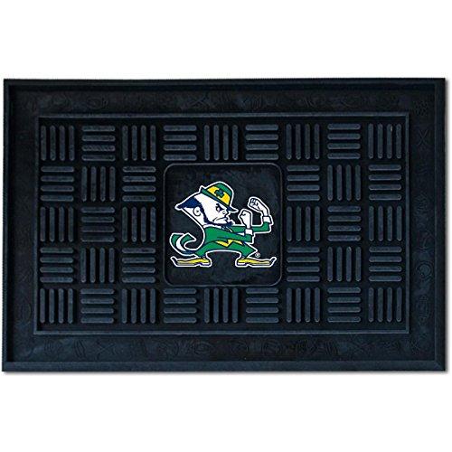 Fighting Irish Door Mat Rug - FANMATS NCAA Notre Dame Fighting Irish Vinyl Door Mat