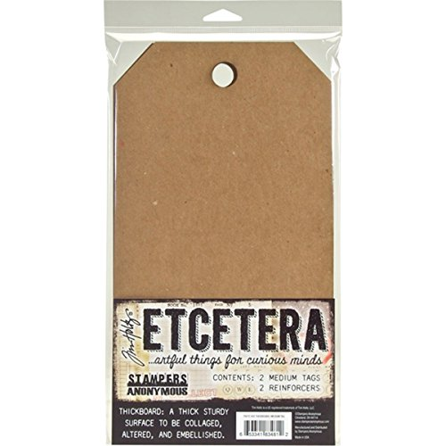 Stampers Anonymous THETC002 Tim Holtz Etcetera Medium Tag 6.5''X12'' by Stampers Anonymous