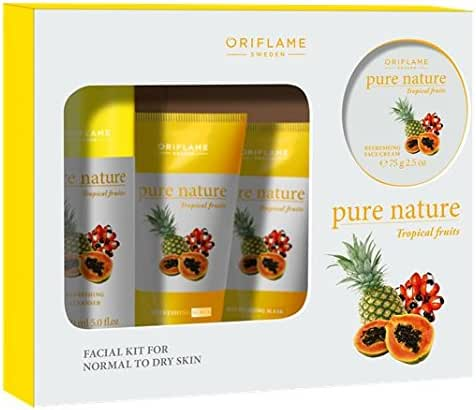 Oriflame Sweden Pure Nature Tropical Fruits Facial Kit for Normal to Dry Skin
