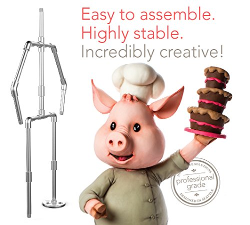 (Innovative Sugarworks Sugar Structures Cake Decorating Armature Kit, Standing 2 Legged, for 3D Cakes, Sculpted Cakes, and Gravity-Defying Wedding)