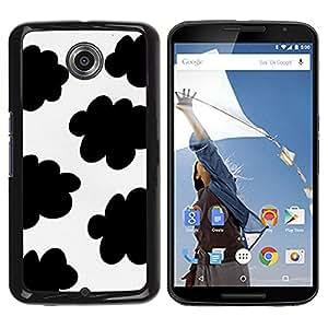 Be Good Phone Accessory // Dura Cáscara cubierta Protectora Caso Carcasa Funda de Protección para Motorola NEXUS 6 / X / Moto X Pro // Spots Black White Clouds Sheep Pattern