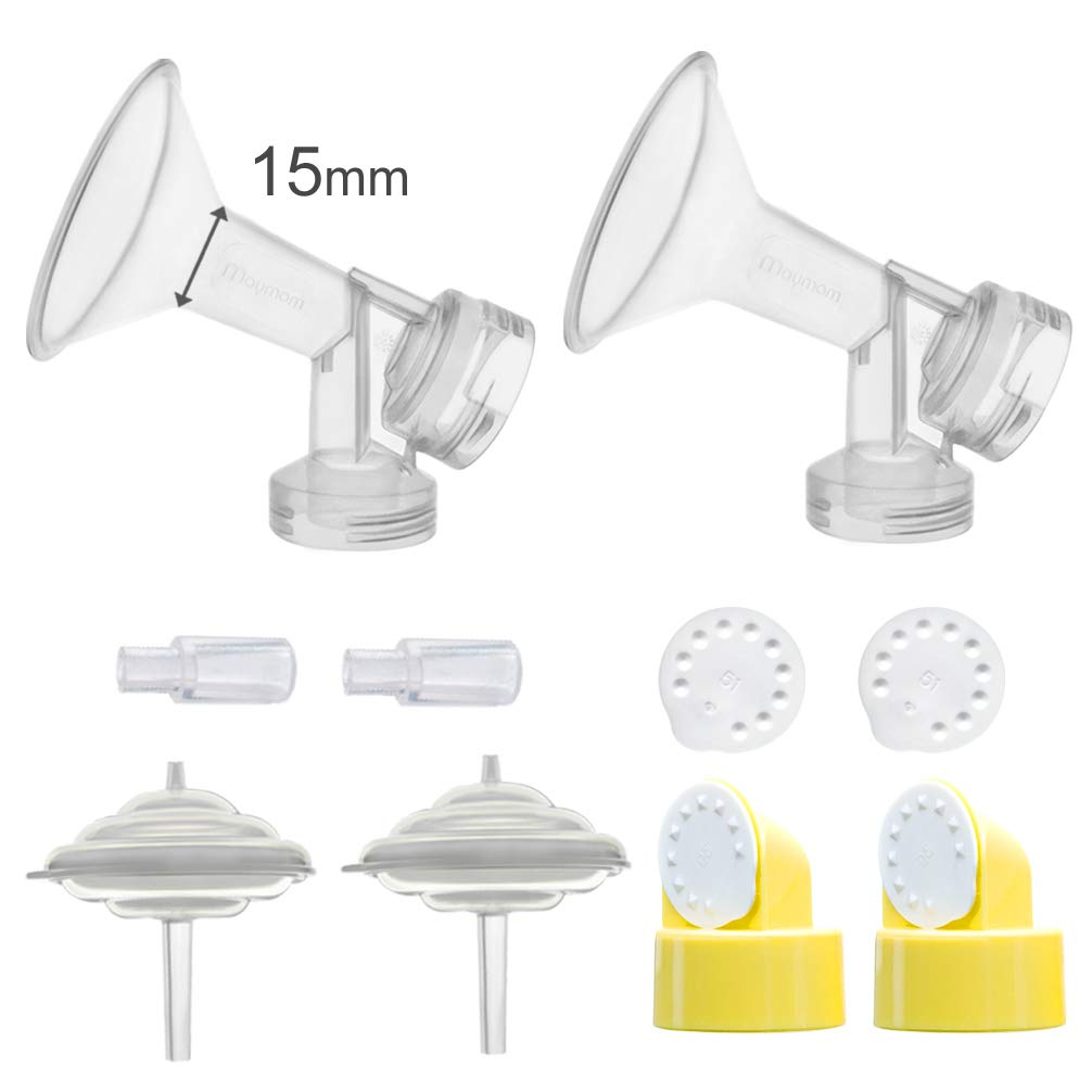 Maymom Breastshields Kit for Medela Freestyle Pumps (15 mm flange)