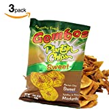 #6: Sweet Plantain Chips – The Perfect Crunchy Healthy Snack - Thick Cut Unique Flavor -Plantain Chips Crunchy Fresh (Tajaditas de Plátano Maduritos) Gembos - 3pack - 5.29 ounces(150grams)