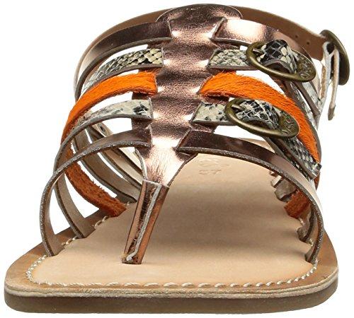 Kickers Dixmille Damen Sandalen Mehrfarbig - Multicolore (Bronze/Beige/Orange)