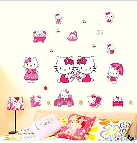 Kibi Stickers Muraux Hello Kitty Autocollants Enfants Hello Kitty Stickers Muraux Enfants Hello Kitty Stickers Muraux Chambre Enfants Wall Sticker Hello Kitty Stickers XXL