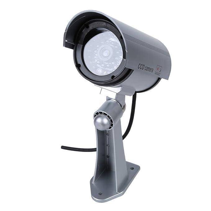 TOOGOO(R) Camaras de Vigilancia Seguridad IR Simulado / Falso Inalambrico Impermeable. Con Luz Intermitente LED Rojo, LED IR Falso.