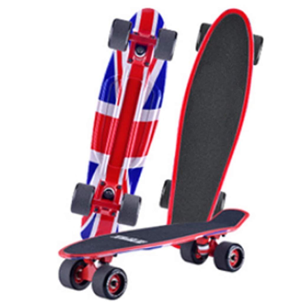 KTYXDE スケートボード四輪旅行スケートボードビッグホイールシングルロッカー環境工学プラスチックボード