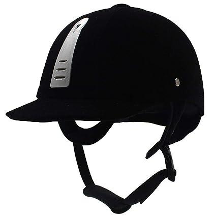 haodene Bomba casco de equitación negro para hombre Mujer