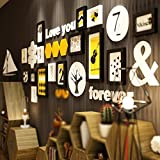 Storefront living room sofa wall / dormitory personality modern restaurant photo wall / modern minimalist photo wall 15 box 205 77cm ( Color : Black and white )