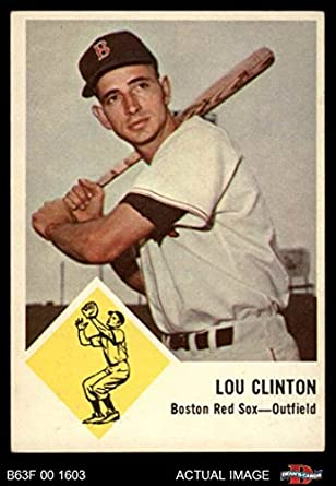 Amazoncom 1963 Fleer 6 Lou Clinton Boston Red Sox